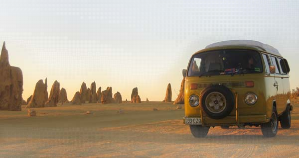 Our kombi, our home (for a while, at least)