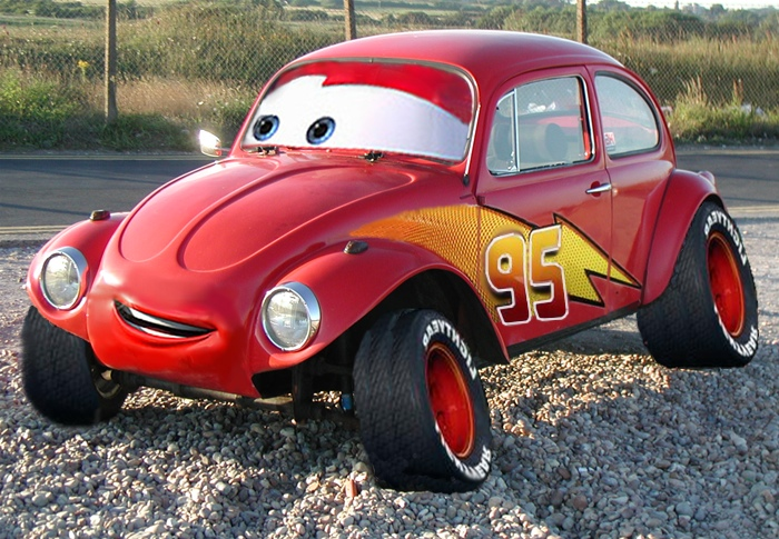 Volkswagens as extras in the Movie Cars